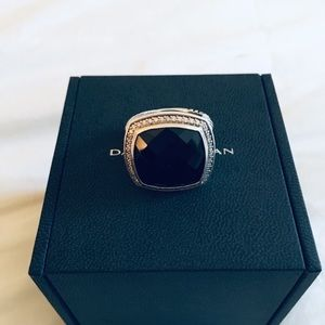 Sale💐David yurman 20mm Albion onyx Diamond ring 8